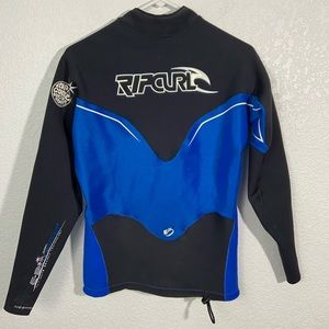 Rip Curl Men's Wetsuit Long Sleeve Top Blue Black